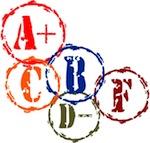 Stylized letter grades