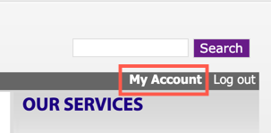 3C Media > My Account link