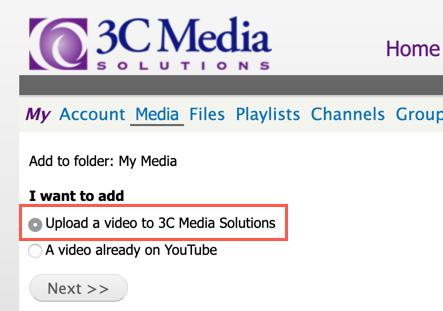 3C Media - select media type