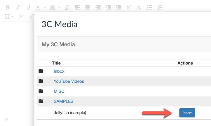3C Media - toolbar popup