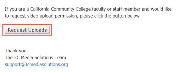 3C Media request upload access