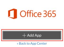 Office 365 > add App