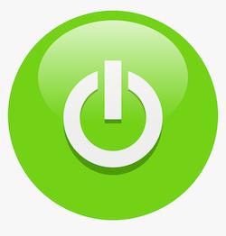 Green power button