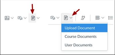 RCE toolbar - Documents icon