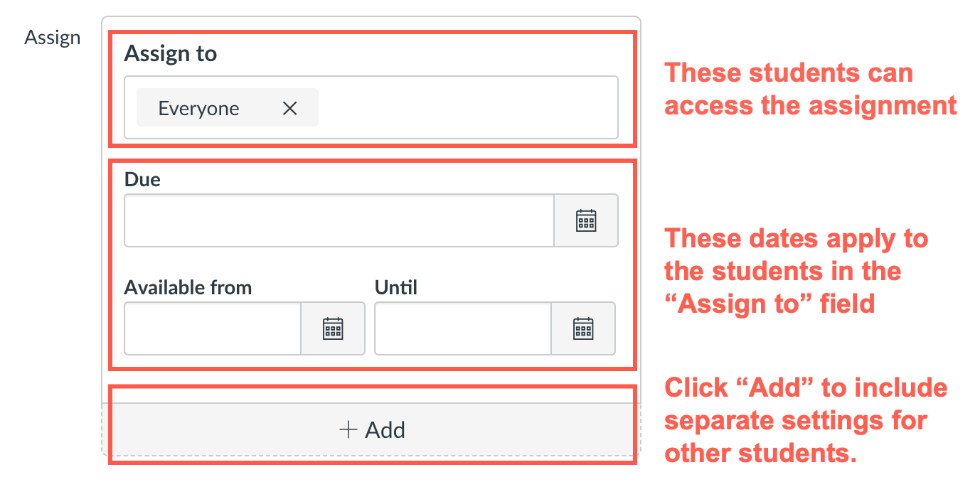 Using the Assign To fields